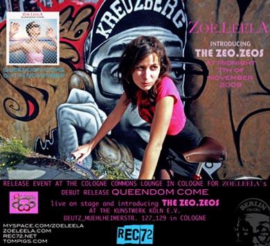Zoe.LeelA - Livekonzert am 7.11.2009 ab 24:00 Uhr im KunstWerk Koeln, Lange Nacht der Museen